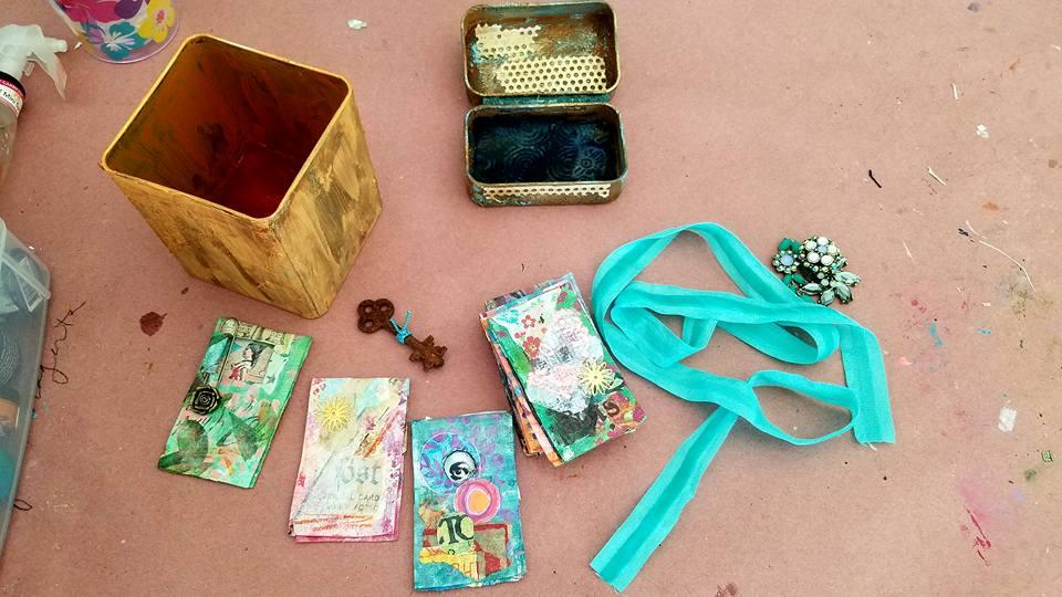 Student Work - Tin Box Book with Linda Trenholm