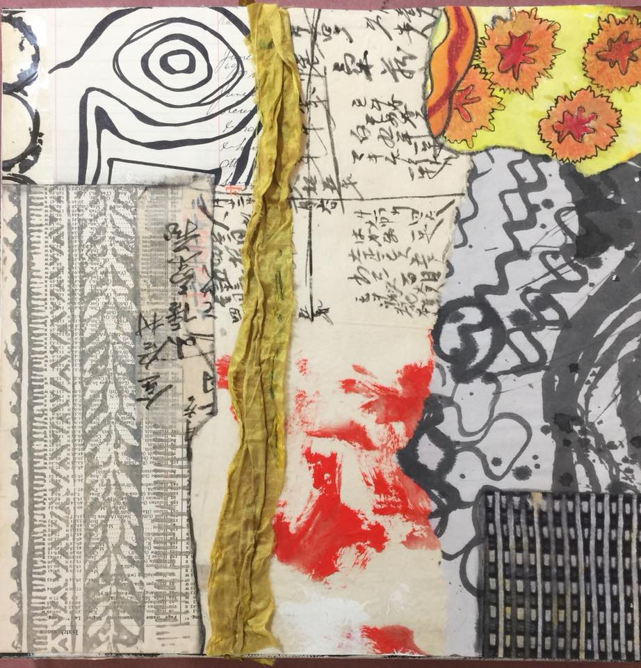 Student Work - The Art of Expressive Freedom in Mixed Media & Collage