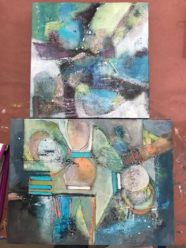 Absolutely Abstracts w/Jodi Ohl - Student Work